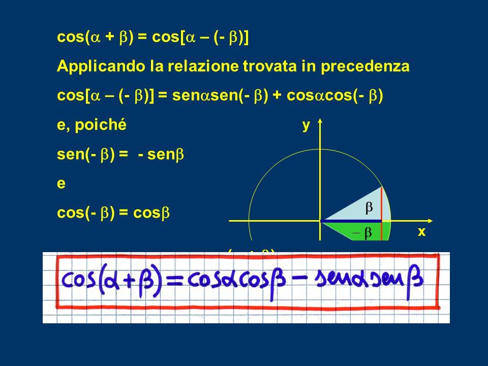 sena[- senb] + cosacosb = - senasenb + cosacosb